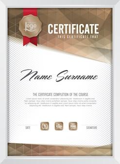 Szablon tła certyfikatu