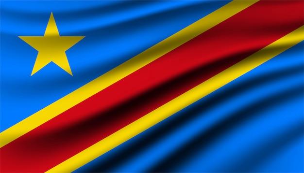 Szablon tła demokratycznej republiki konga.