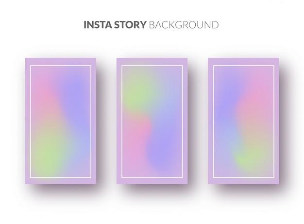 Szablon tła historii instagram z pięknym gradientem