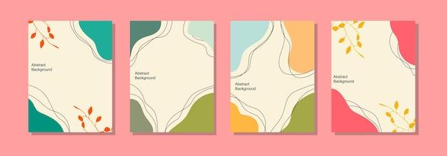 Szablon tła postu w mediach społecznościowych, abstrakcyjny wzór i letnie kolory