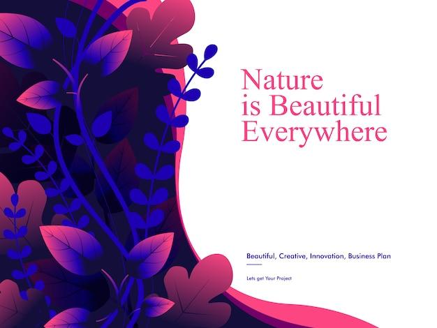 Szablon tła przyrody