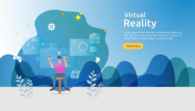 Szablon tła wirtualnej rzeczywistości rozszerzonej