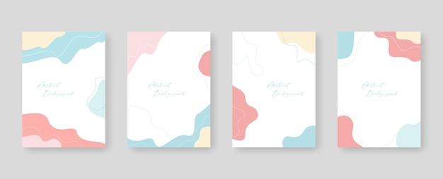 Szablon tła z miejscem na kopię do projektowania tekstu i obrazów według abstrakcyjnych kolorowych kształtów