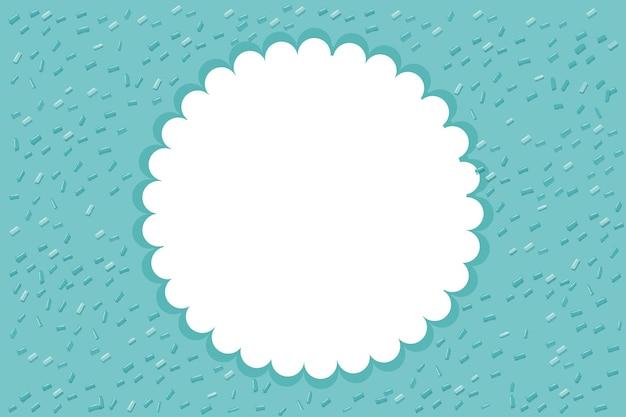 Szablon tła z okrągłą ramką
