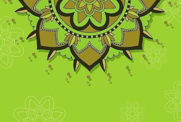 Szablon tła z wzorami mandali