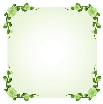 Szablon tła z zielonymi kwiatami