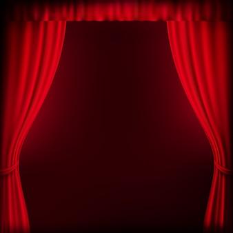Szablon tło czerwone zasłony. plik w zestawie