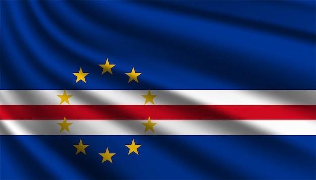 Szablon tło flaga republiki zielonego przylądka.
