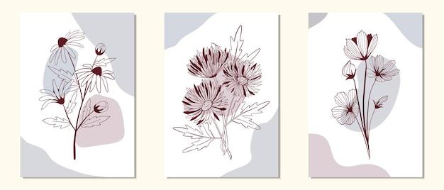 Szablon tło mediów społecznościowych z kwiatów i liści