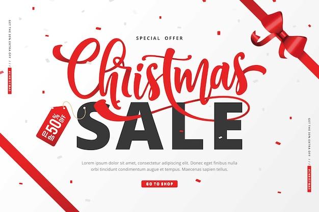 Szablon tło sprzedaż świąteczna