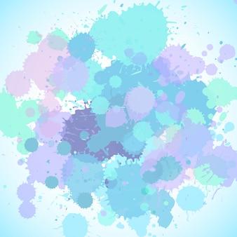 Szablon tło z różowym i niebieskim pluskiem
