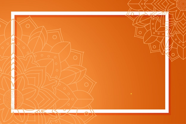 Szablon tło z wzorami mandali