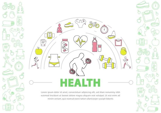 Szablon tło zdrowego stylu życia