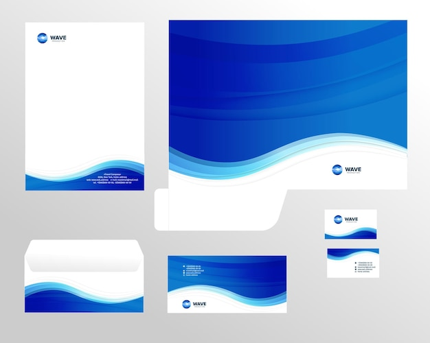 Szablon tożsamości korporacyjnej projekt marketing wizualny marka tożsamość biznesowa zestaw kart firmowy papier firmowy
