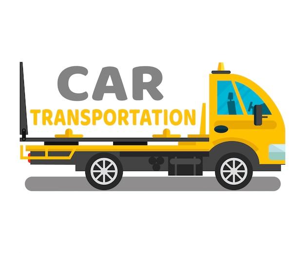 Szablon transparent baner usługi transportu samochodowego