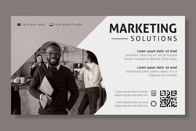 Szablon transparent biznes marketingowy