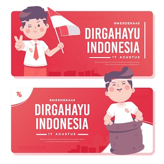 Szablon transparent dzień niepodległości indonezji