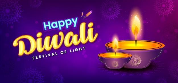 Szablon transparent festiwalu diwali