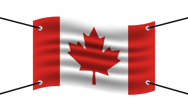 Szablon transparent flaga kanady.