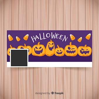 Szablon transparent halloween facebook