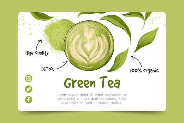 Szablon transparent herbaty matcha