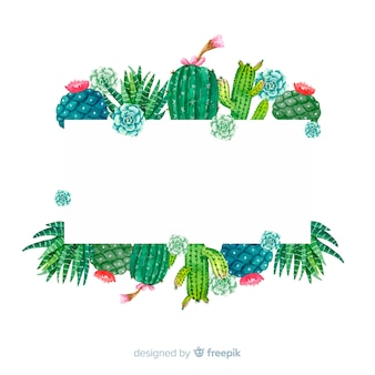 Szablon transparent kaktus