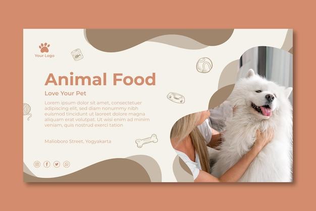 Szablon transparent karmy dla zwierząt