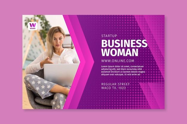Szablon transparent kobieta biznesu