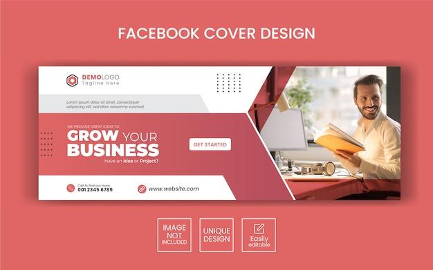 Szablon transparent kreatywnych mediów społecznościowych z projektem okładki na facebooku