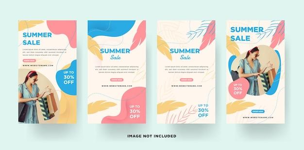 Szablon transparent letniej sprzedaży insta story