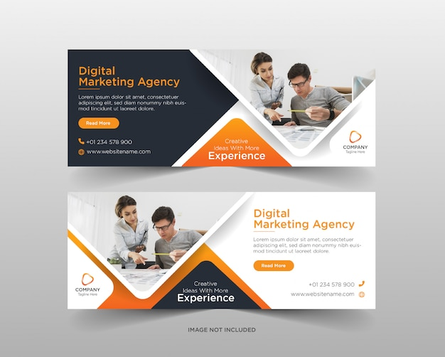 Szablon transparent mediów społecznościowych agencja marketingu cyfrowego