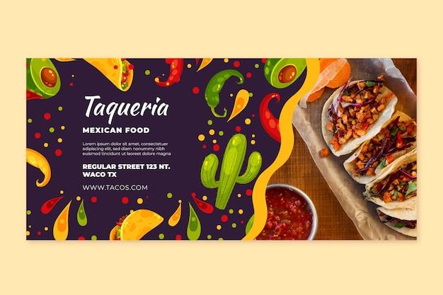 Szablon transparent meksykańskie jedzenie