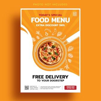 Szablon transparent menu specjalnego żywności