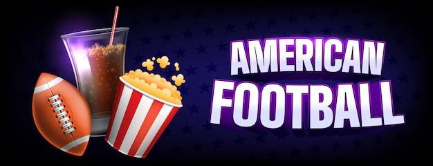 Szablon transparent na wydarzenie futbolu amerykańskiego