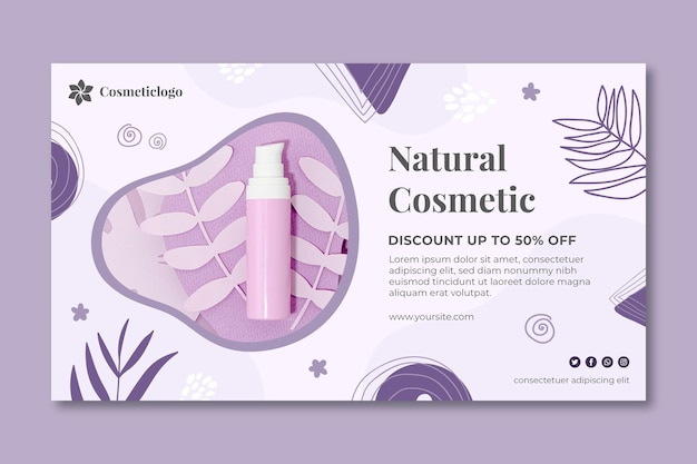 Szablon transparent naturalny kosmetyk