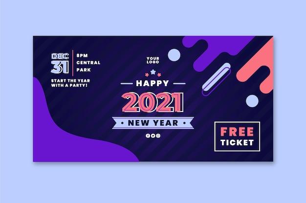 Szablon transparent nowy rok 2021