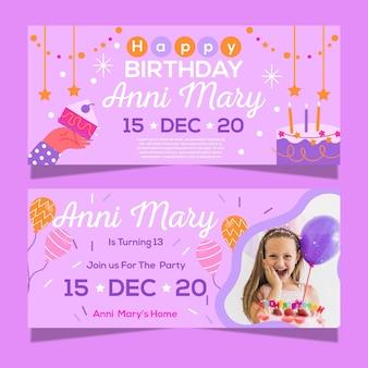 Szablon transparent obchody urodzin