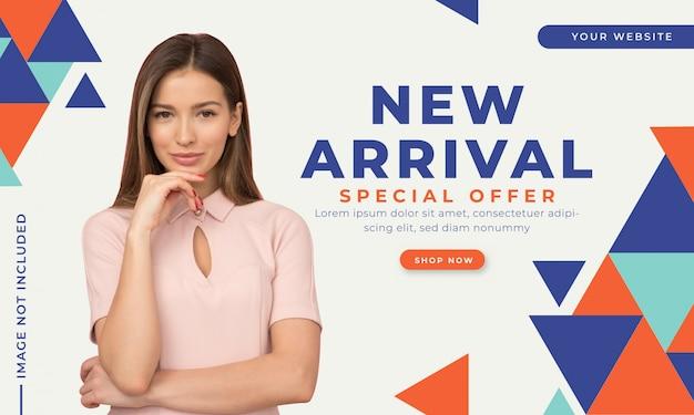 Szablon transparent oferta sprzedaży moda