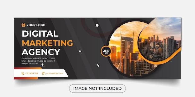 Szablon transparent panoramiczny agencji marketingu cyfrowego