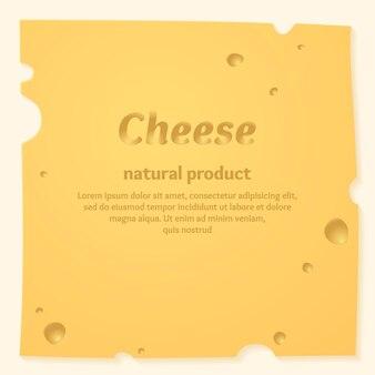 Szablon transparent piękny ser