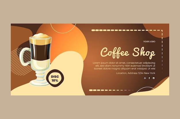 Szablon transparent poziomy kawiarni