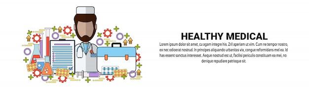 Szablon transparent poziomy koncepcja zdrowej medycyny medycznej