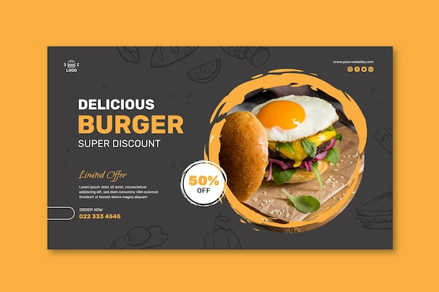 Szablon transparent restauracja burgery
