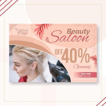Szablon transparent salon piękności