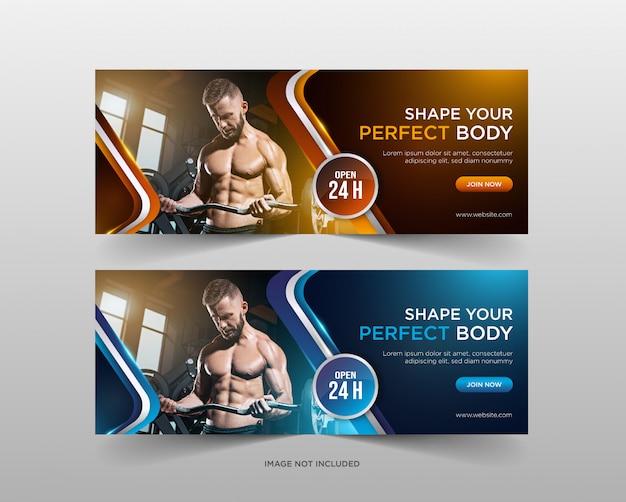Szablon transparent siłowni promocja