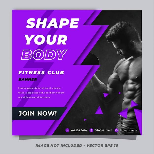Szablon transparent siłownia fitness