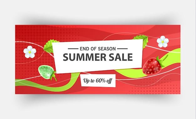 Szablon transparent sprzedaż lato, ilustracji wektorowych