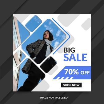 Szablon transparent sprzedaż moda na post mediów społecznościowych