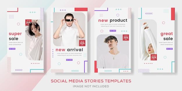 Szablon transparent sprzedaż mody dla mediów społecznościowych.
