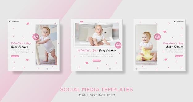 Szablon transparent sprzedaż mody dla niemowląt
